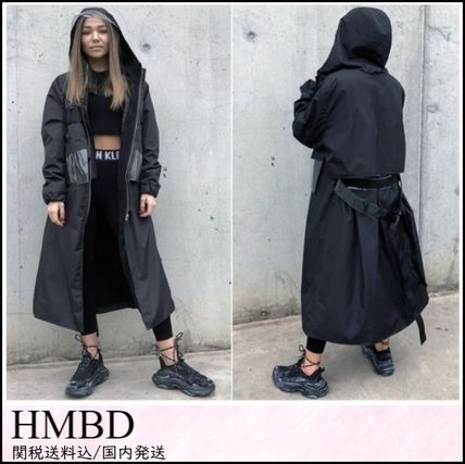 Casual Style Blended Fabrics Street Style Plain Long Coats