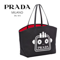 PRADA Casual Style Unisex Canvas Street Style Bag in Bag A4