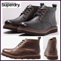 Superdry Plain Leather Chukkas Boots