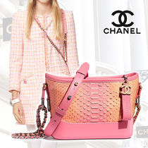 CHANEL Blended Fabrics 2WAY Chain Other Animal Patterns Leather