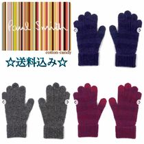 Paul Smith Stripes Wool Blended Fabrics Smartphone Use Gloves