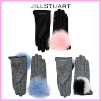 JILLSTUART Wool Plain Smartphone Use Gloves
