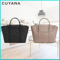 CUYANA A4 2WAY Plain Leather Elegant Style Shoulder Bags