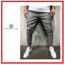 Printed Pants Gingham Street Style Cotton Patterned Pants