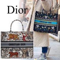 Christian Dior Flower Patterns Unisex Canvas A4 2WAY Other Animal Patterns