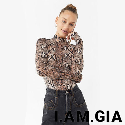 Long Sleeves Party Style Python Shirts & Blouses