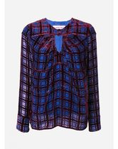 CARVEN Other Check Patterns Velvet Long Sleeves Shirts & Blouses