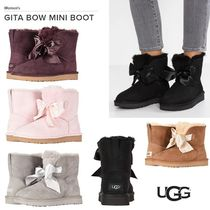 UGG Australia Round Toe Rubber Sole Casual Style Sheepskin Plain