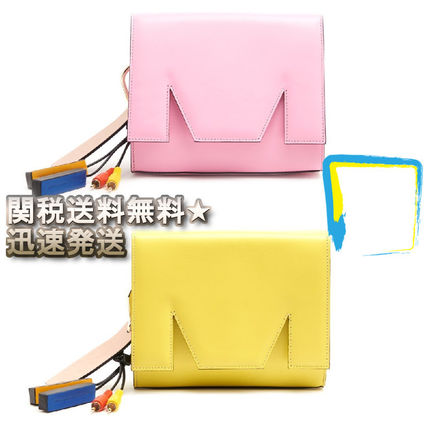 Casual Style Tassel Plain Leather Shoulder Bags