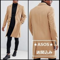 ASOS Wool Plain Long Chester Coats