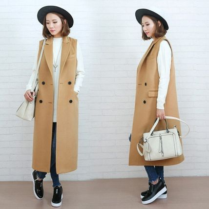 Casual Style Street Style Plain Long Oversized