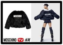 H&M Casual Style Unisex Faux Fur Street Style Collaboration