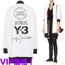 Y-3 Casual Style Unisex Collaboration Long Oversized