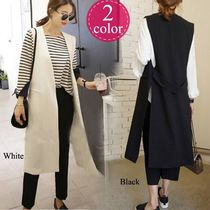 Casual Style Street Style Plain Long Oversized Vests
