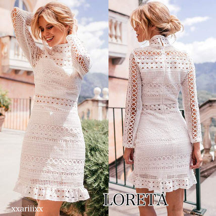 Long Sleeves Medium Home Party Ideas High-Neck Lace