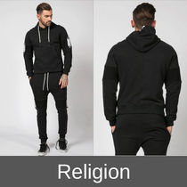 Religion Pullovers Street Style Long Sleeves Plain Cotton Cardigans