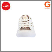G BY GUESS Round Toe Rubber Sole Lace-up Casual Style Low-Top Sneakers