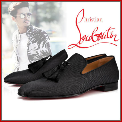 d9ed92f4439c ... Christian Louboutin Loafers   Slip-ons Plain Toe Loafers Tassel Street  Style Plain Leather ...