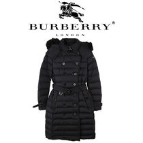 Burberry Tartan Street Style Long Down Jackets