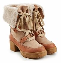 See by Chloe Mountain Boots Round Toe Casual Style Suede Outdoor Boots