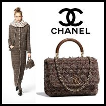 CHANEL Other Check Patterns Blended Fabrics 2WAY Chain Plain