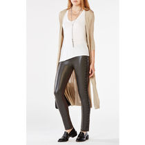 BCBG MAXAZRIA Casual Style Faux Fur Plain Long