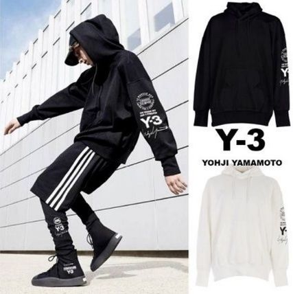 Y-3 Hoodies Unisex Street Style Long Sleeves Cotton Hoodies