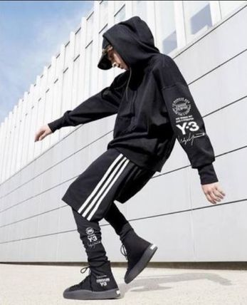 Y-3 Hoodies Unisex Street Style Long Sleeves Cotton Hoodies 2