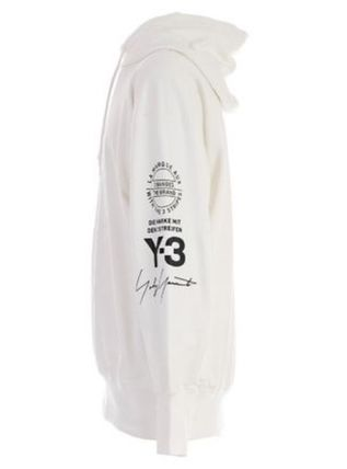 Y-3 Hoodies Unisex Street Style Long Sleeves Cotton Logo Designers 8