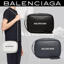 BALENCIAGA Casual Style Unisex Plain Leather Shoulder Bags