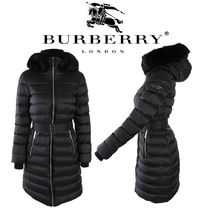 Burberry Street Style Plain Long Down Jackets