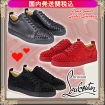 Christian Louboutin LOUIS Suede Low-Top Sneakers