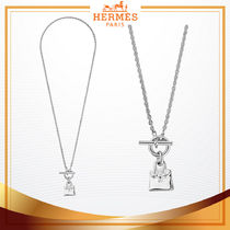 HERMES Chain Silver Necklaces & Pendants