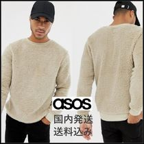 ASOS Crew Neck Pullovers Long Sleeves Plain Sweatshirts