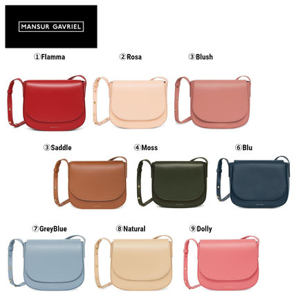 Casual Style Plain Leather Crossbody Logo Shoulder Bags