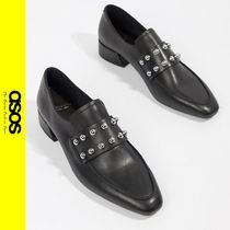 ASOS Studded Leather Loafer Pumps & Mules