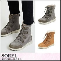 SOREL Round Toe Rubber Sole Lace-up Casual Style Street Style