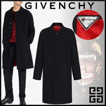 GIVENCHY Cashmere Street Style Long Oversized Chester Coats