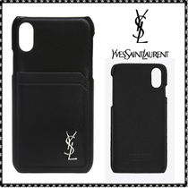Saint Laurent Leather Smart Phone Cases