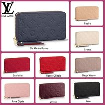 Louis Vuitton MONOGRAM EMPREINTE Monogram Unisex Leather Special Edition Long Wallets