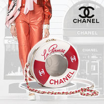 CHANEL Lambskin Blended Fabrics 2WAY Chain Plain Home Party Ideas