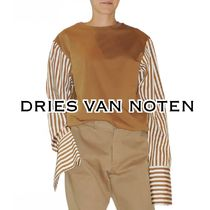 Dries Van Noten Stripes Casual Style Long Sleeves Cotton Tops