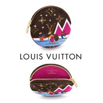 Louis Vuitton MONOGRAM Leather Coin Purses
