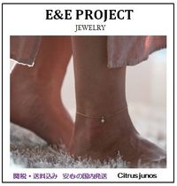 E and E PROJECT Silver 14K Gold Anklets