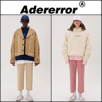 ADERERROR Unisex Street Style Plain Cotton Cropped Pants