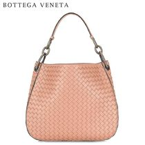 BOTTEGA VENETA Plain Leather Elegant Style Handbags