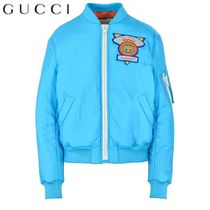 GUCCI Short Plain MA-1 Bomber Jackets