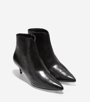 Leather Office Style Ankle & Booties Boots