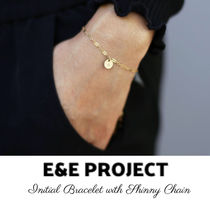 E and E PROJECT Costume Jewelry Casual Style Chain 14K Gold Bracelets