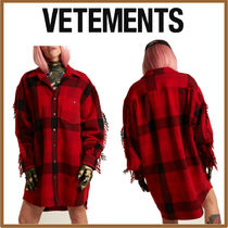 VETEMENTS Other Check Patterns Casual Style Wool Long Sleeves Medium